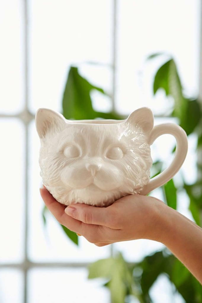 Plum & Bow Cat Face Mug ($12)