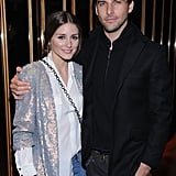 Olivia Palermo joined by Johannes Huebl at HBO's Girls premiere in NYC.