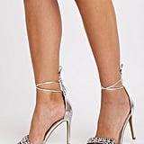 Charlotte Russe Crystal Ankle Strap Sandals