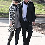 Gwen Stefani and Gavin Rossdale shared smiles.