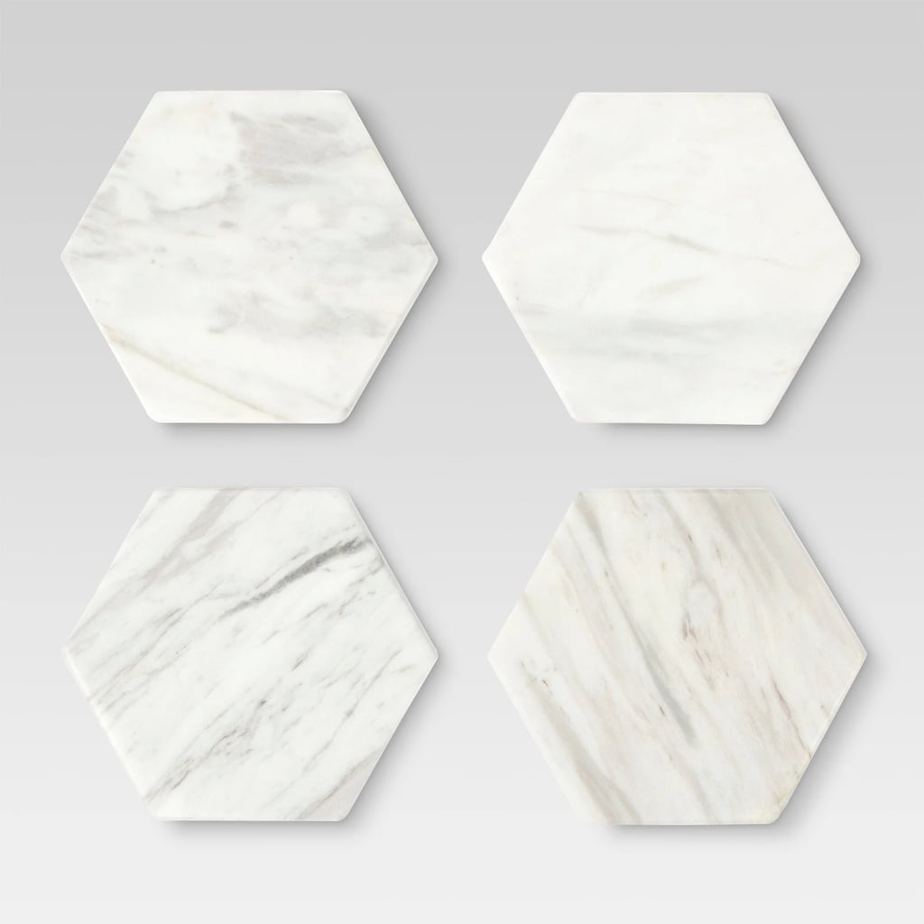 Marble Stackable Coasters White