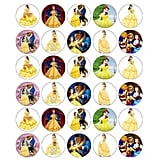 Beauty and The Beast Edible Cupcake Toppers
