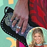Fergie continued the pastel theme at the 2008 Teen Choice Awards wearing a lavender nail polish.