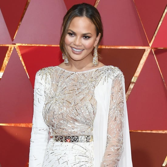 Chrissy Teigen Sleeping at the 2017 Oscars Photo
