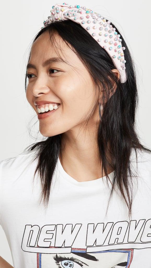 Lele Sadoughi Beaded Woven Headband