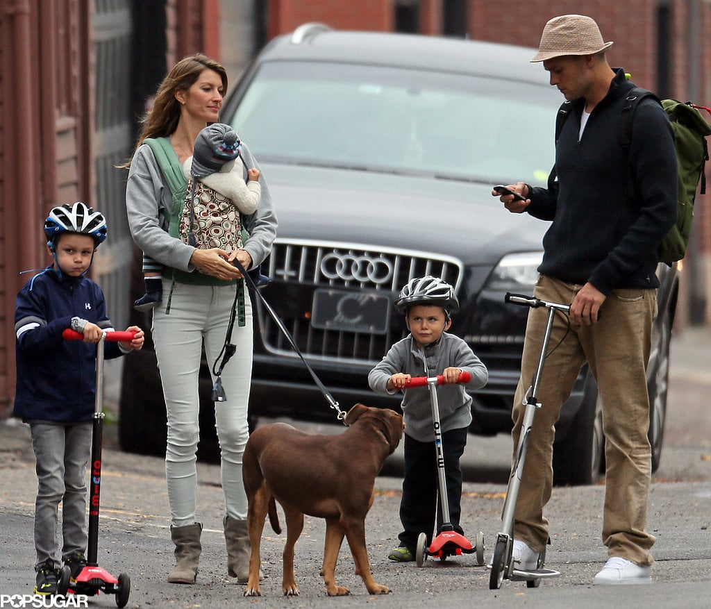 One of the world's most genetically-blessed families, Gisele Bündchen, Tom Brady and their kids, had an adorable outing in Boston on Oct. 12.