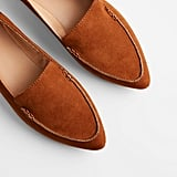 Express Faux Suede Pointed-Toe Loafers