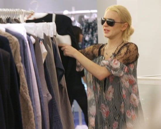 Lindsay shops in Paris