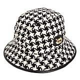 Gucci Houndstooth Wool Blend Tweed Bucket Hat
