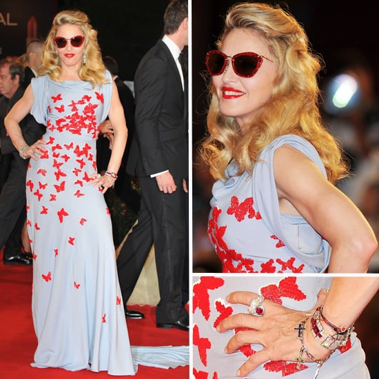 Pictures of Madonna in Vionnet at the Premiere of W.E. at the 2011 Venice Film Festival