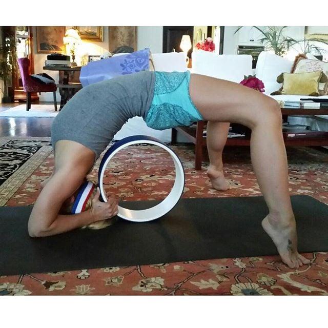 Britney practicing her backbends.