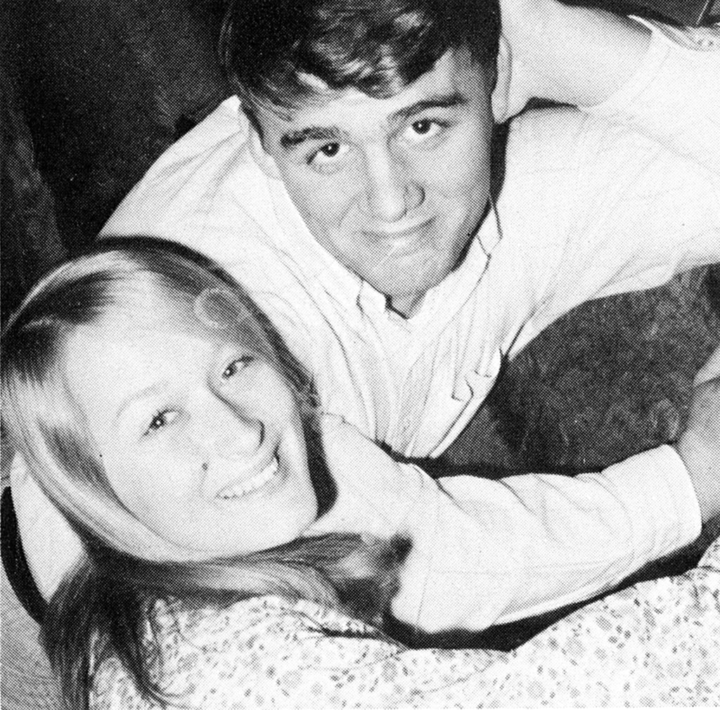 A very young Meryl hung out with a guy friend. Source: Seth Poppel/Yearbook Library