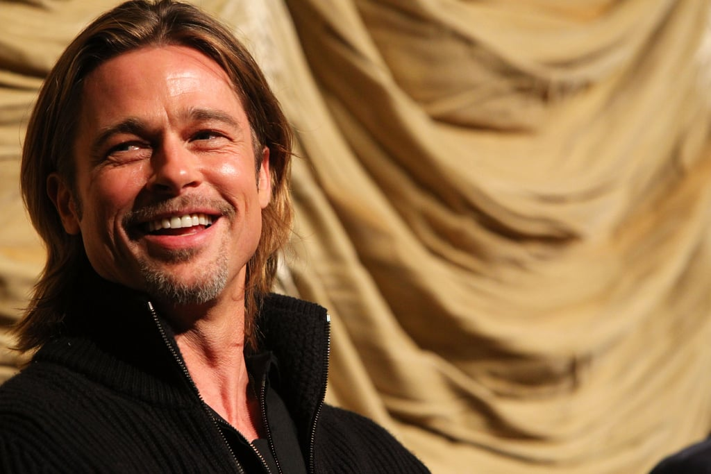 Brad Pitt took the stage for a Q&A after a screening of Moneyball in LA in February.