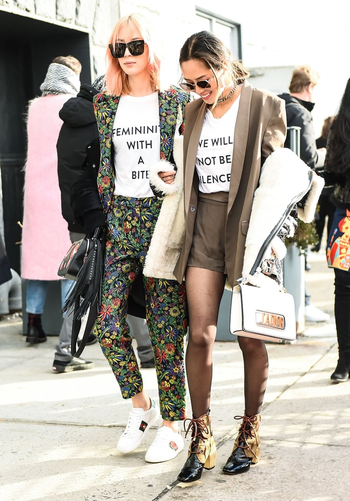 Activist Street Style At Fashion Week Popsugar Fashion