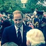 William mingled with locals in Blenheim, New Zealand. Source: Instagram user sperrypeoplemag