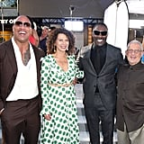 Dwayne Johnson and Idris Elba posed with Universal Pictures Chairman Donna Langley and NBC Universal's Vice Chairman Ron Meyer at the LA premiere of Hobbs and Shaw in July 2019.