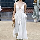 A White Dress Over Pants on the Jonathan Simkhai Runway During New York Fashion Week