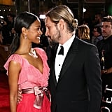 Pictured: Zoe Saldana and Marco Perego