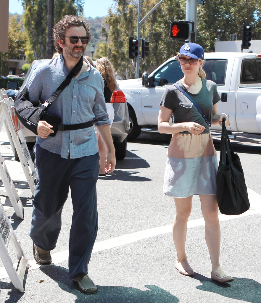 Rachel McAdams and Michael Sheen stepped out in sunny LA on Sunday to pick up produce at a farmers market. Rachel did all the heavy lifting and carried the groceries back to the car since Michael appeared to be nursing a newly injured right arm.  The pair are back in California after a brief trip out of town, though they didn't make the journey to Italy to support their Terrence Malick flick, To the Wonder at the Venice Film Festival. Rachel stars opposite Ben Affleck in the drama, but Michael actually isn't in the finished product. Michael's role was cut from the film, as was Rachel Weisz's, Barry Pepper's, and Amanda Peet's. Up next, Rachel's reportedly heading home to Canada where her thriller Passion is set to premiere at the Toronto International Film Festival on Friday.