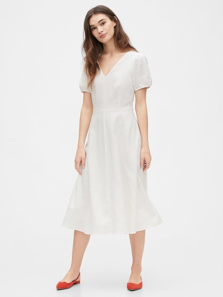Gap V-Neck Midi Dress