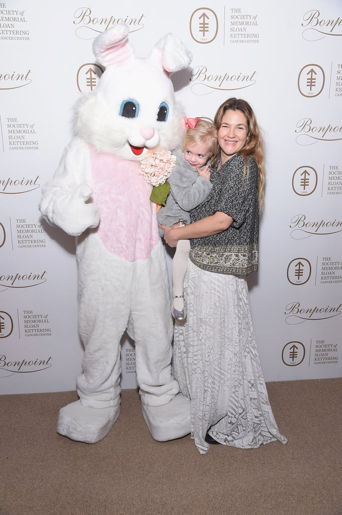 Drew Barrymore and 2-year-old daughter Frankie Kopelman got a head start on their Easter celebrations when they attended the Society of MSK's Bunny Hop in NYC on Tuesday. The mother-daughter duo were as cute as can be as they cuddled up together for pictures with the Easter bunny. The annual charity event raises funds for pediatrics, and even though Drew's older daughter, Olive, wasn't in attendance, we're pretty sure this beats the family's recent trip to Disney World.