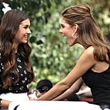Maria Menounos got enthusiastic while chatting with Nina Dobrev.