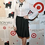 Chloe Moretz played up the sweet vibe of her Jason Wu for Target look with a pair of Gianvito Rossi Tuxedo shoes.