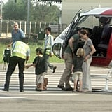 Pics: Angelina Jolie Arrives in Cambodia With Shiloh, Zahara, Maddox, and Pax For Louis Vuitton Shoot!
