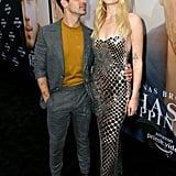 Sophie Turner Silver Chainmail Dress With Joe Jonas