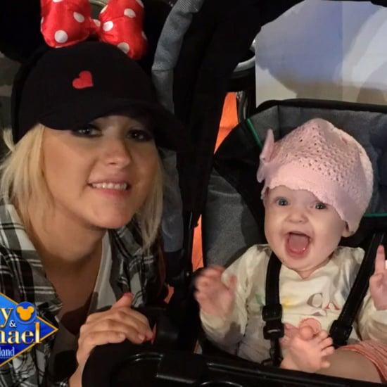 Christina Aguilera's Baby Summer Rain at Disneyland | Photos