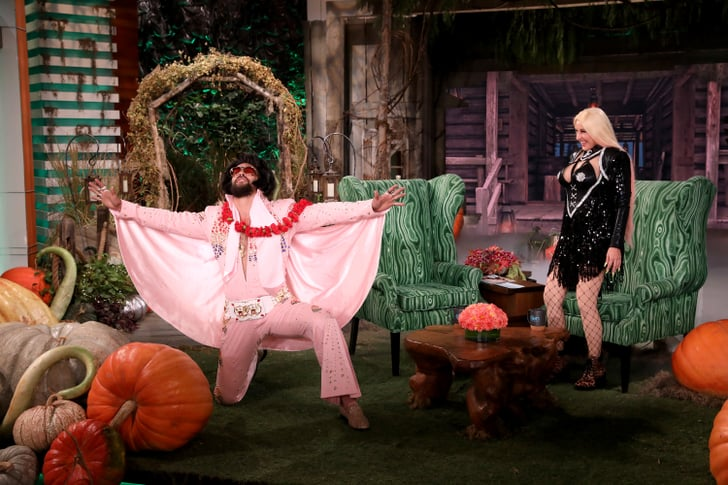 Jason Momoa S Elvis Halloween Costume On The Ellen Show
