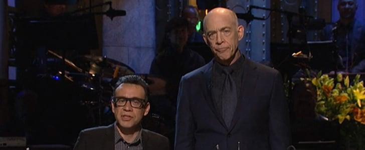 J.K. Simmons Saturday Night Live Monologue   Video