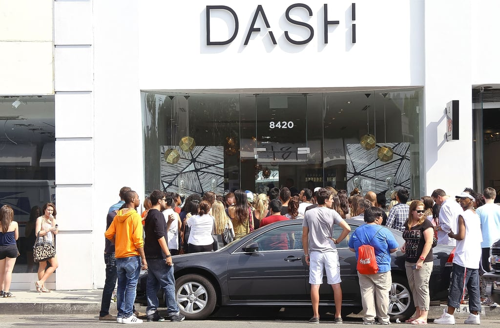 The Kardashians opened their Dash boutique in LA in 2012.