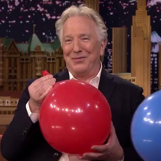 Alan Rickman Has Helium on The Tonight Show | Video