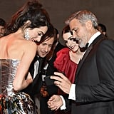 Pictured: Amal Clooney, Francesco Carrozzini, Bee Shaffer, and George Clooney
