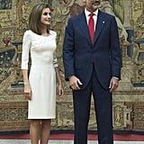 At El Pardo Palace in Madrid.