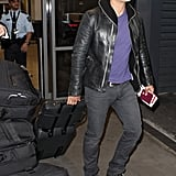 Orlando Bloom touched down.