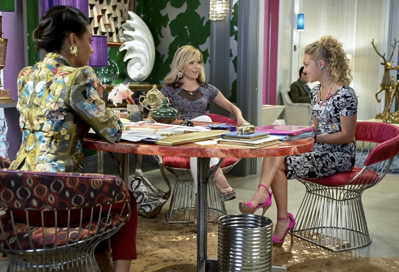 Pretty in pink. Score Carrie's exact Jessica Simpson sandals ($50, originally $89) to sweeten up your date-night look.