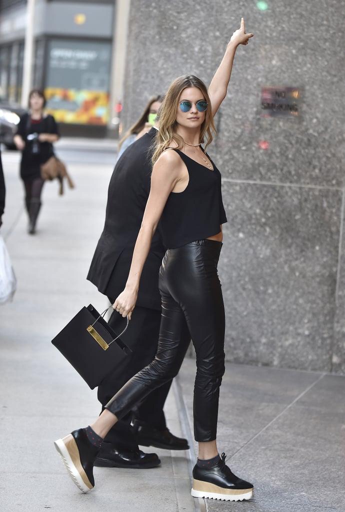 Behati Prinsloo Wearing Richer Poorer Socks With Stella