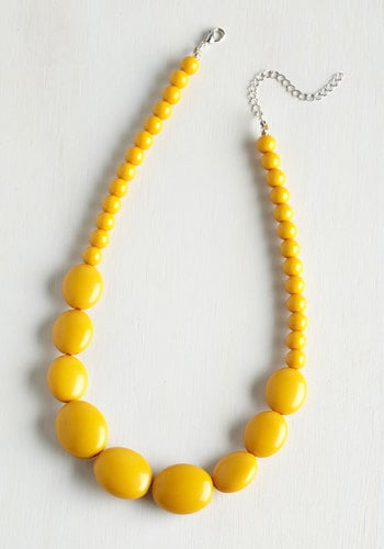 Bright and Baubly Necklace in Mustard ($20)