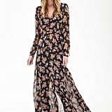 Forever 21 Floral Chiffon Maxi Dress