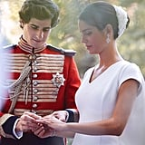 The Gorgeous Couple Exchanging Rings