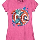 Girls' Captain America T-Shirt