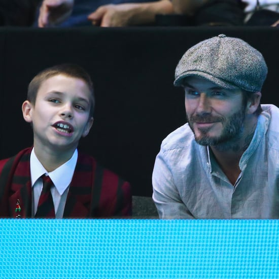 David and Romeo Beckham at the ATP World Tour Finals 2016