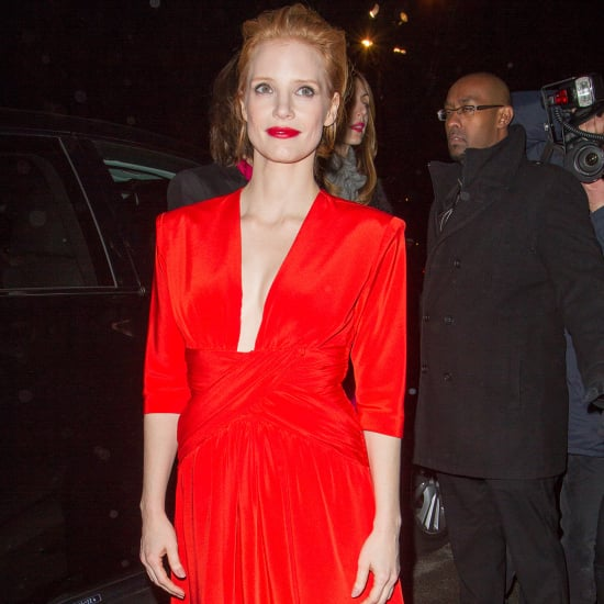 Jessica Chastain, superbe au défilé Saint Laurent à la Fashion Week !