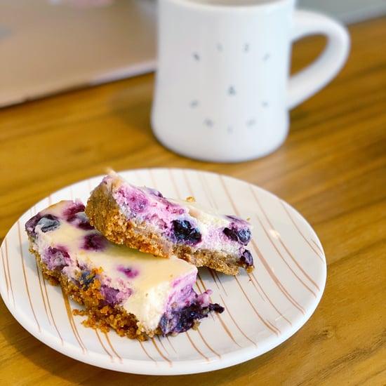 Easy Lemon Blueberry Cheesecake Bars Recipe
