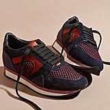 Burberry Suede and Mesh Trainers (£395)