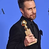 """It's nice to be in a movie that people see."" — Sam Rockwell while accepting the Golden Globe for best supporting actor for Three Billboards Outside Ebbing, Missouri."