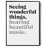 "Brika ""Seeing Wonderful Things"" Poster ($35)"