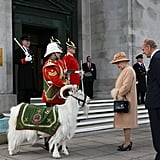 The queen and Prince Philip admired a ceremonial goat in Swansea, Wales, back in 2008.